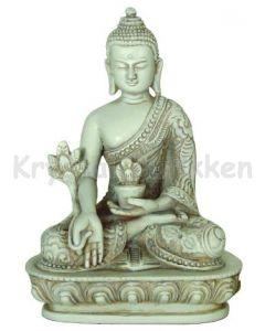 Buddha-rød-i meditationsstilling.
