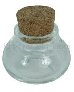 Glas krukke med kork prop