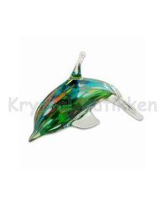 glas-delfin-blå