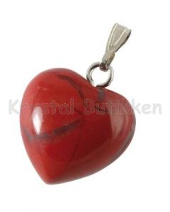 hjerte-vedhæng-rød-jaspis