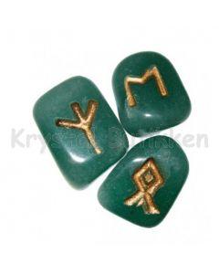 Rune Sæt Grøn Aventurin