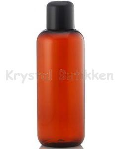 Brun-plast-flaske