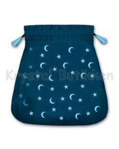 Stofpose i fløjl - måne og stjerner