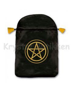 Stofpose i satin - Pentagram