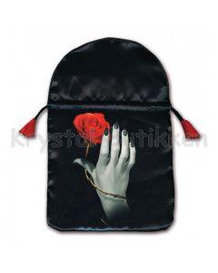 Stofpose i satin - Rose Hand