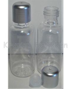 Plastflaske-sølv-låg