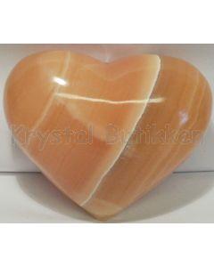 Hjerte Gul Aragonit Hjerte 1 kg