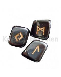 runesæt sort agat