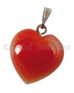 Hjerte vedhæng Karneol