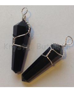 Obsidian sort vedhæng 1