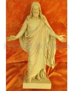 Kristus figur 32 cm - Patina farve