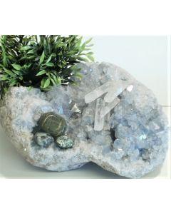 Meditationsaften med krystaller