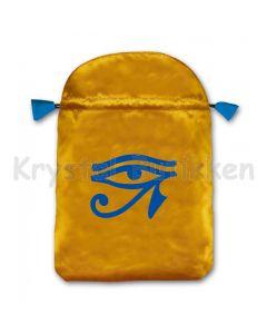Stofpose i satin - Horus øje